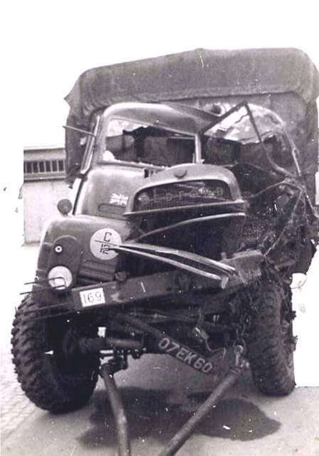The full damaged Bedford RL