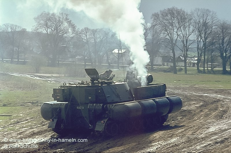 SPG155mm M109 with floating equipment