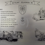 43 Plant Squadron Royal Engineers – Etched Plate