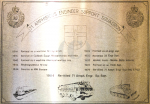 71 Amph Engr Sp Sqn – Etched Plate