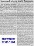1964/06/22 – Staatsanwalt schämte sich für Angeklagten…..