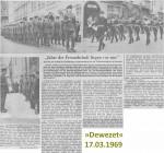 17.03.1969 Jahre der Freundschaft liegen vor uns – 20th anniversary of the 29 Field Squadron