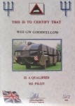 Memories of Glen Goodfellow – Certificates