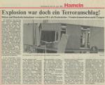 1990/06/14 – Bombing of the Hamelin units – Bombenanschlag auf die Hamelner Einheiten