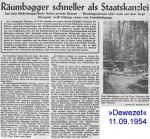 1954/09/11 – Räumbagger schneller als Staatskanzlei – Munitionslager Hagenohsen