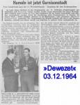 1964/12/03 – Hameln ist Garnisonsstadt