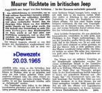1965/03/20 – Maurer flüchtete im Jeep…..
