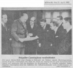 1969/04/23 – Brigadier Cunningham verabschiedet sich aus Hameln