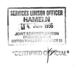 SERVICE LIAISON OFFICERS - Stempel